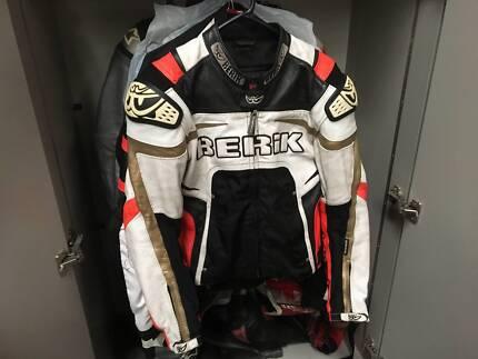 motorcycle jacket leather Berik size 50