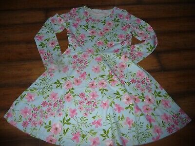 NEW NWT The Childrens Place blue Floral Girls Long Sleeve Skater Dress size 14