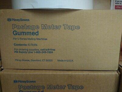 Genuine Oem Pitney Bowes 627-2 Gummed Postage Meter Tape 6 Rolls - Free Ship