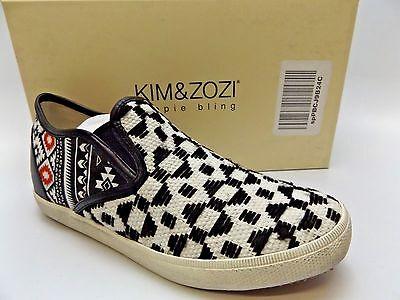 Kim & Zozi Womens Rio Woven Printed Low Top Fashion Sneakers SZ 7.0 M NEW D3549