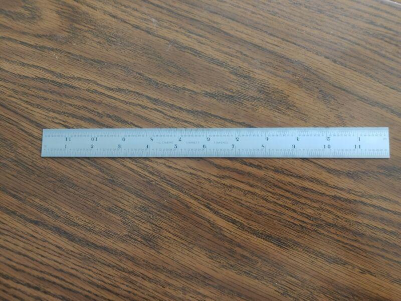 """NEW Starrett C304SRE-12 12"""" 4R Grad Semi-Flex Steel Rule"""