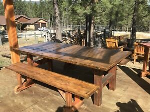 Out door Dining Table and Benches