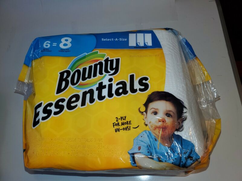 Bounty Essentials 2-Ply Paper Towels - 6 Rolls
