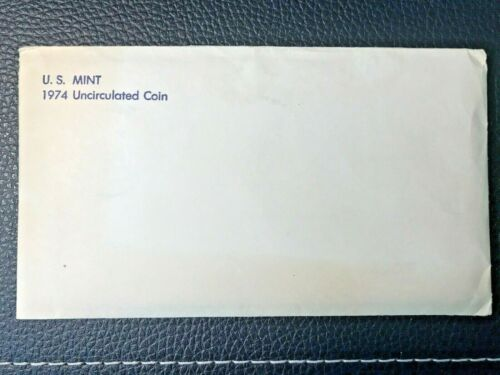 1974 P-D-S United States Mint Uncirculated Coin Set with Envelope  FREE SHIPPING