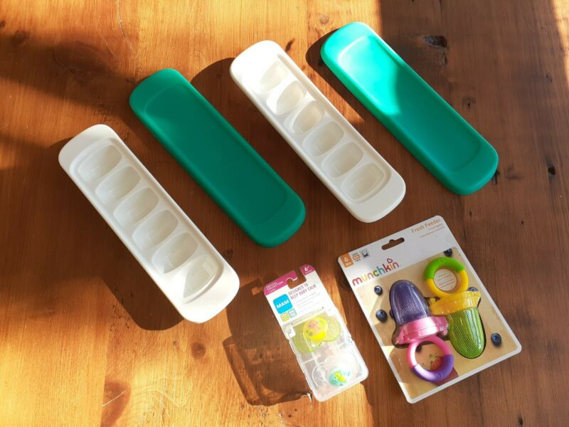 oxo baby food freezer trays Mam 6 month pacifier munchkin fresh feeders lot