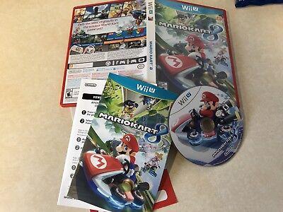 Mario Kart 8 (Nintendo Wii U, 2014) Used Free US Shipping