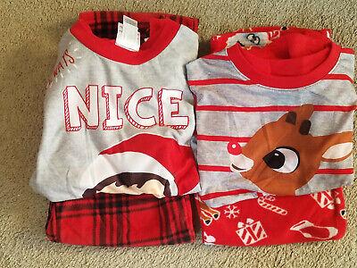 Kids Elf Pajamas (Kids Christmas Fleece Pajamas Set * Elf on the Shelf or Rudolph NWT M Medium)