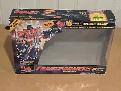BOX ONLY Vintage 1992 Hasbro G2 Transformers OPTIMUS PRIME Collectors Edition