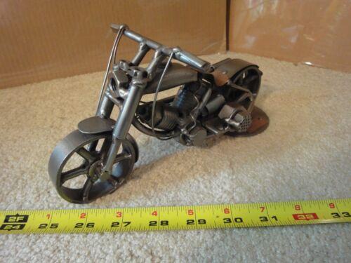 Hinz & Kunst original German motorcycle sculpture. Handmade, welded metal model