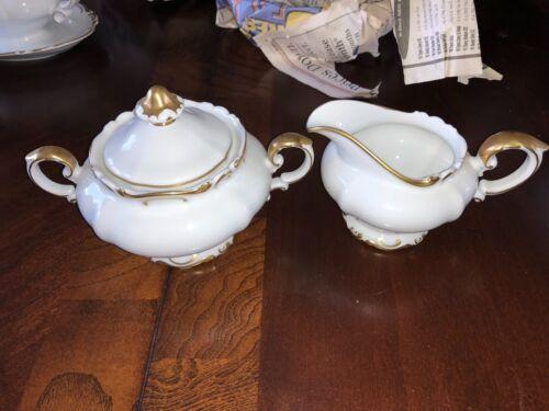 Heinrich Fanny Elssler #16209 H&Co. Selb Bavaria Germany Creamer & Sugar Bowl