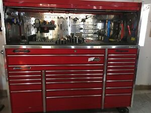 Snap on tool box and storage.