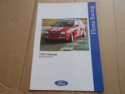 Ford Fiesta 16V 1993 Racing challenge series original colour sales brochure