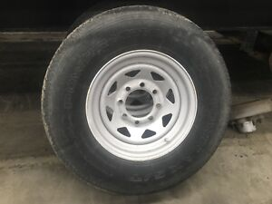 Trailer rims and tires 8 bolt