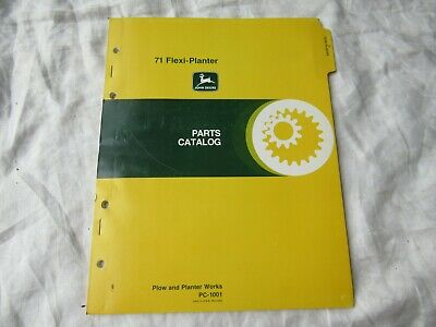 John Deere 71 Flexi-planter Parts Catalog Manual