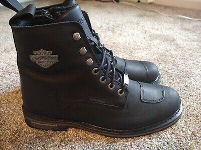 Harley-Davidson Men's Clancy Waterproof Black Motorcycle Boots D96159