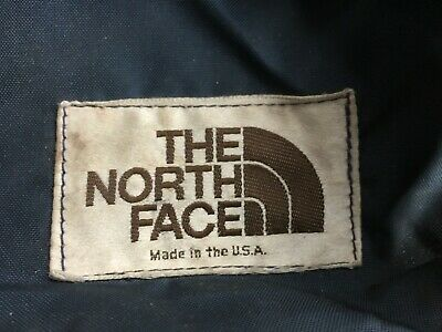 Vintage North Face Hiking Backpack Expandable Made USA Blue Medium Canvas