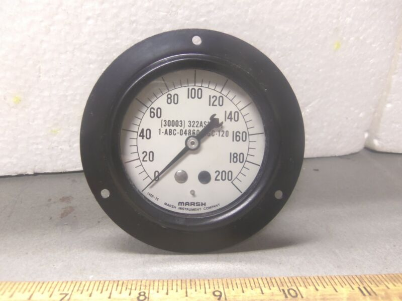 Marsh Instrument Co Dial Indicating Pressure Gage P/N: 1-ABC-04860-AGC-120 (NOS)