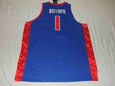 NWT AUTHENTIC ADIDAS CHAUNCEY BILLUPS DETROIT PISTONS JERSEY BLUE SIZE 60 4X NBA