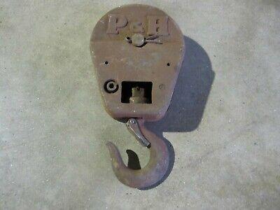 Vintage Pulley Hook Vintage Trolley Hook I Beam Hoist Snatch Block Pulley
