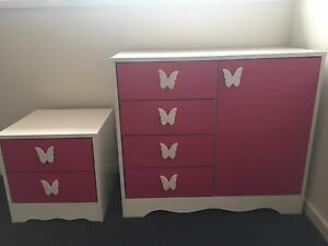 Kids/Girls bed side table/chest of drawer/tallboy/furniture Sunnybank Hills Brisbane South West Preview