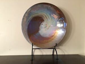 Decorative glass bowl in stand