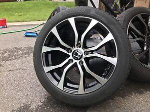 Wheels Rims Tires 205/50/17 Honda Civic 5x114.3 like new!!!