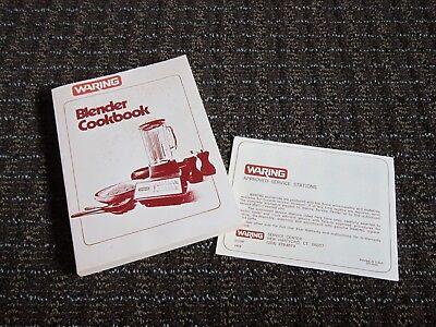 Vintage Waring Blender Cookbook 258 pages! BOOK Lots of recipes! 1980 Use & Care