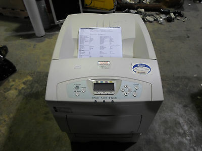 RICOH AFICIO SP C410DN COLOR PRINTER W/PAPER FEED UNIT TYPE 4000 USED & TESTED