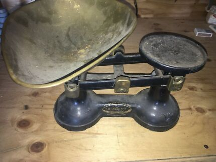 Vintage Kitchen Scales And Weights. Bonus Set