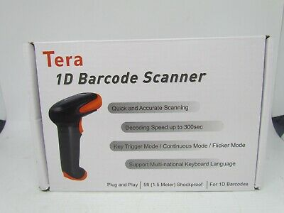 Tera Barcode 2 In 1 Scanner 1d Wo Stand 32bit Cpu Usb 2.0 2.4 Ghz Wireless