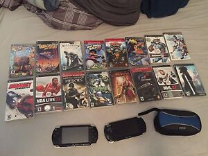 Psp +16 games, 2 memory cards, case and charger