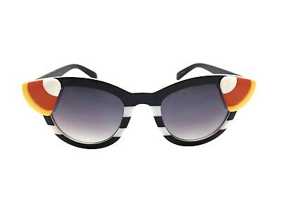 Women's Black and White Stripe Embellished Candy Corn Sunglasses for Halloween](Cat Eye For Halloween)