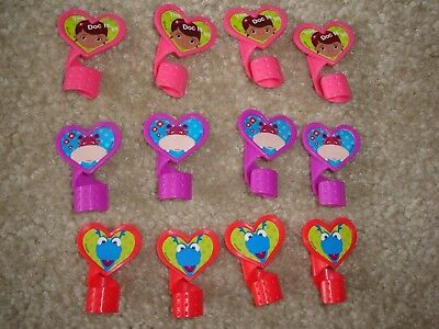 12 DISNEY DOC MCSTUFFINS SET CUPCAKE TOPPERS CAKE DECORATIONS PLASTIC PICK RINGS - Doc Mcstuffin Cupcake Toppers