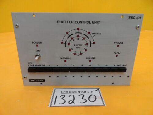 Balzers BG M70 000 Shutter Control Unit SSC 101 Used Working