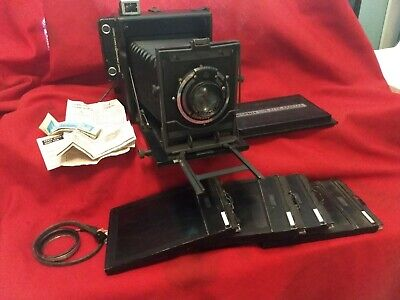 Used, Antique Perle Rapid Folding Press Camera with Kalart Rangefinder Graflex Viewer for sale  Shipping to India