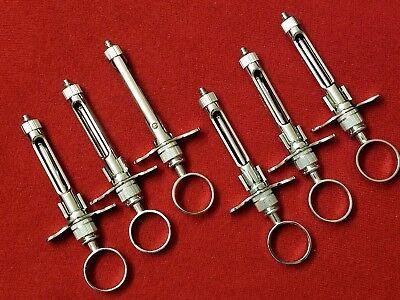 6 German Dental Anesthetic Syringe Self-aspirating 1.8cc-dental Instruments-a