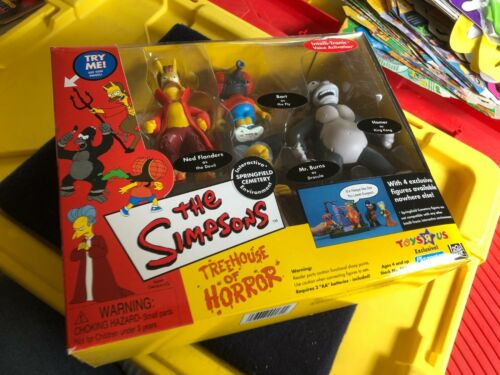 NIB The Simpsons Treehouse of Horror Springfield Cemetery Playmates figure set