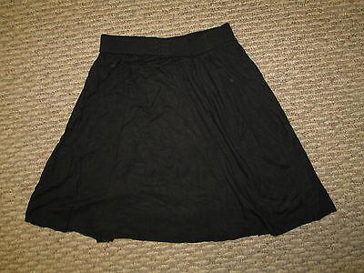 Girls Black Flare Skirt Small 6 8 Medium 10 12  cotton  NWOT
