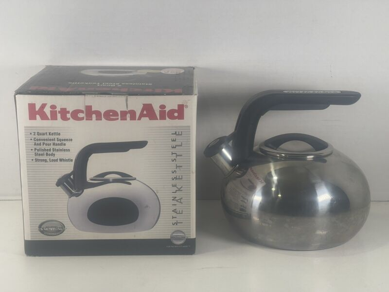 KitchenAid Teapot Kettle Whistling 2 Quart Stainless Steel Cookware