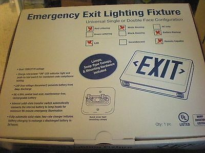5 Led Exit Signs W Emergency Battery Backup Lighting Fixture Remote Capable
