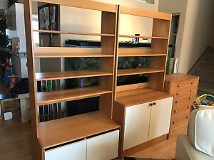 Bookshelves and dresser x3 pcs - PRICE REDUCED