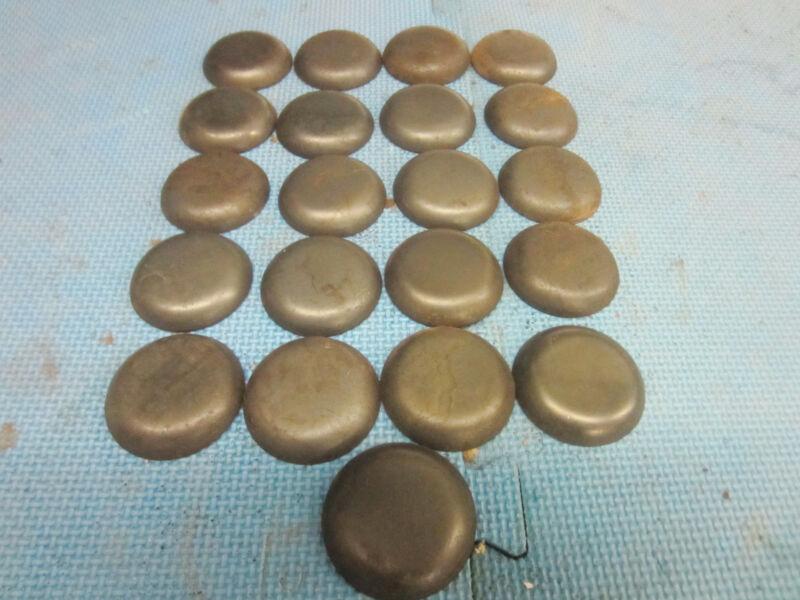 Pipe Caps:  steel, weld on size 2-1/16 inch Outside Diameter. Lot of 25.