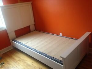Twin bed frame with low-profile box spring