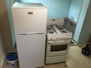 Small Gas stove and small fridge $200