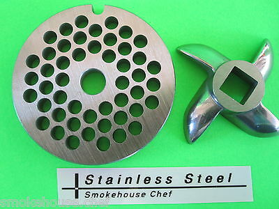 Size 5 X 316 Meat Grinder Plate Knife For Manual Or Electric Fits Lem Etc