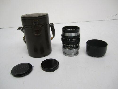 Vtg Nippon Kogaku Nikon Nikkor PC 1:2.5 f=10.5 cm Camera Lens & Case