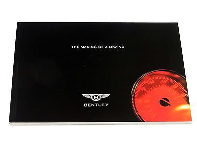 Official Bentley Motors 80-Page Book Brochure - The Making of a Legend  2002