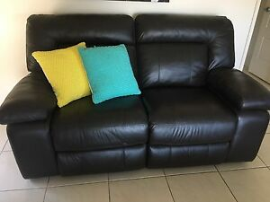 TWO x leather recliner lounges Beenleigh Logan Area Preview