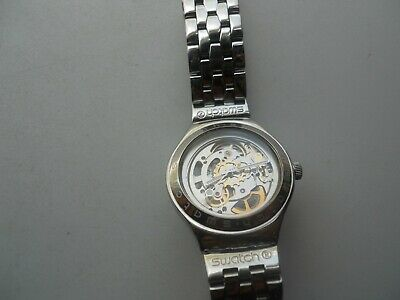 Vintage Swatch Irony Skeleton Automatic Men's,Stainless Steel Analog Used Watch