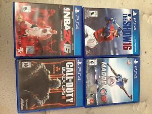 4 PS4 video games